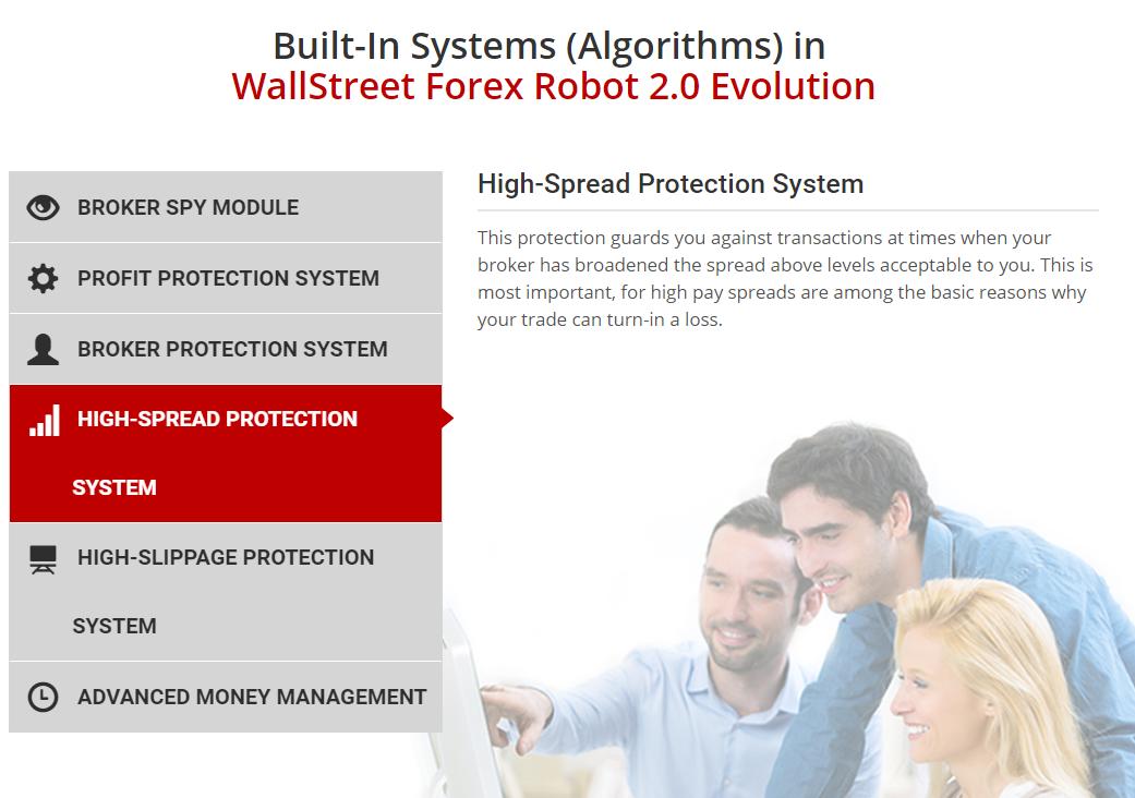 WallStreet Forex Robot 2.0の公式サイトのキャプチャ画像