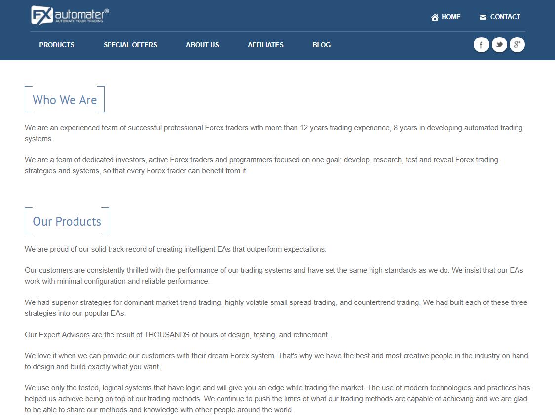 FXAutomaterの公式サイト