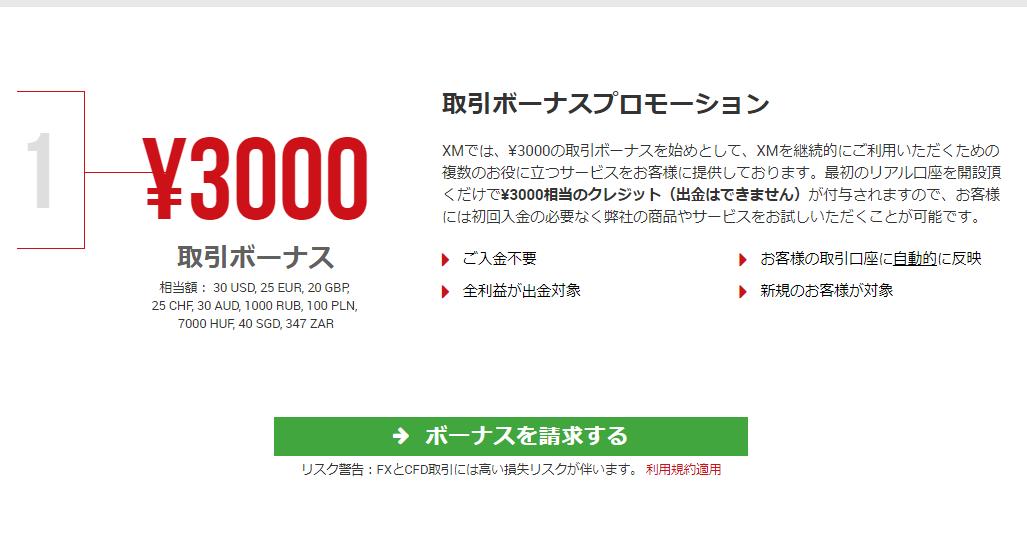 XM公式サイトのキャプチャ画像