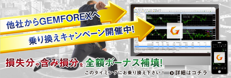 GEMFOREX公式サイトのキャプチャ画像