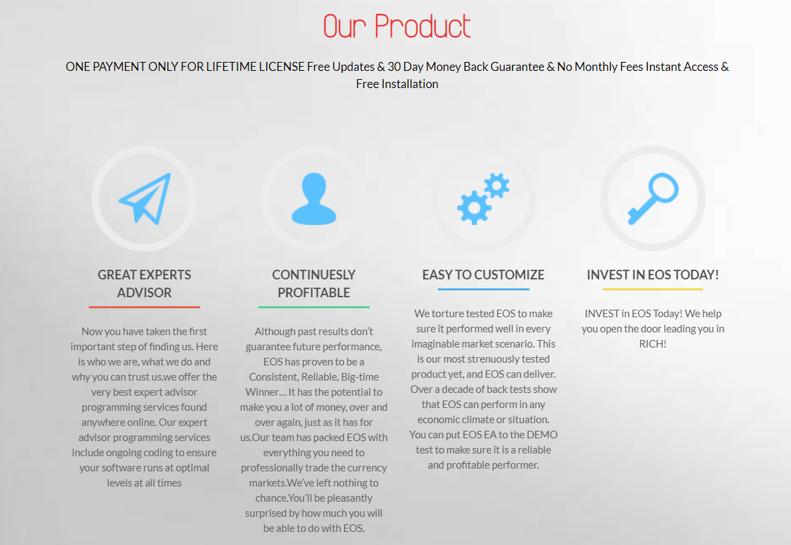 EOS Forex EA公式サイトのキャプチャ画像