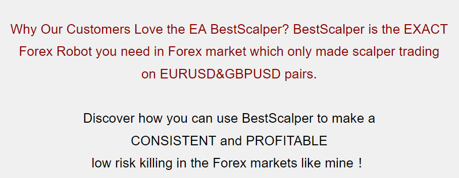 Best Scalper Forex Robot公式サイトのキャプチャ画像