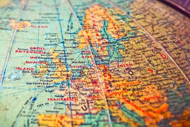 欧州の地図の画像