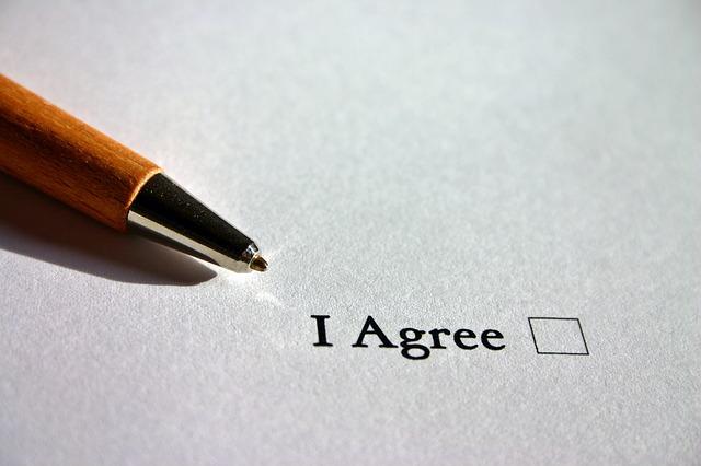 同意書のイメージ画像