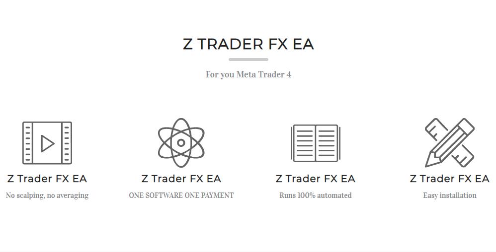 Z Trader FX EA公式サイトのキャプチャ画像